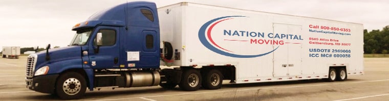 Professional interstate moving company - long distance moving with the Nation Capital Movers truck