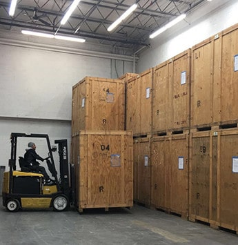Safe temporary storage solution by professional moving experts