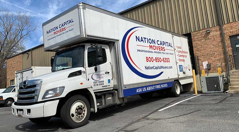 One of our moving trucks heading to Arlington, Virginia.