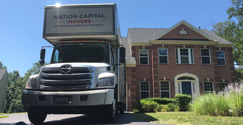 One of our moving trucks after a successful relocation.