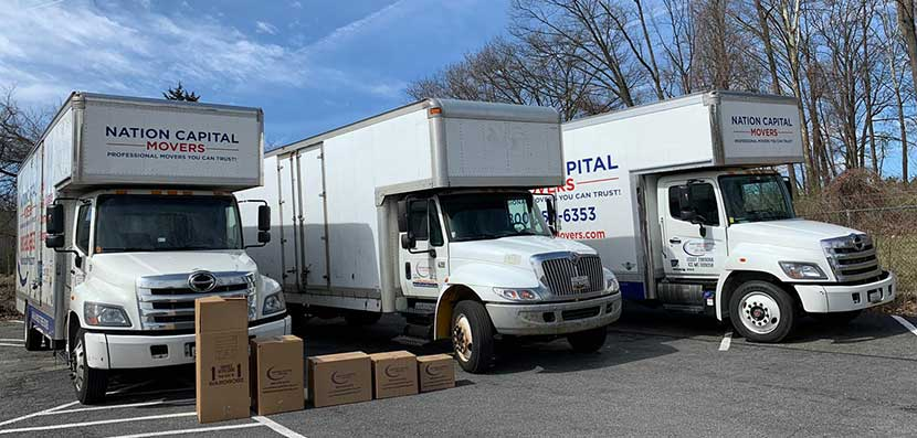 Our moving trucks are ready and equipped for their next job.